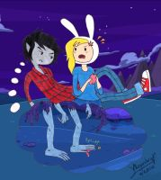 Marshall Lee is jealous by aleprettycat