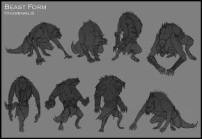 ALCATEIA - BEAST FORM SKETCHES by Torres-PT