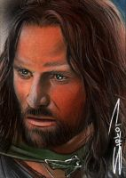 Aragorn Sketch Card by RandySiplon