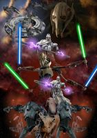 Star Wars - General Grievous Poster by LordRadim