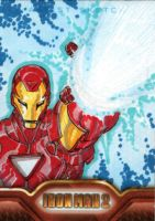 Iron Man 2 sketchcards 5 by SpiderGuile