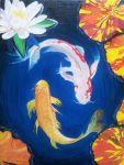 Harmonious Koi - WIP - oil painting by Giselle-M