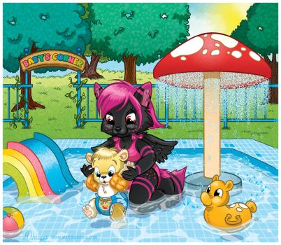 COMMISSION: First Time In The Pool by MalyMilo