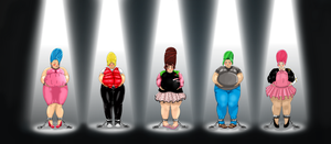 Commission: The Beehive Brigade, all big and fat! by kymyit