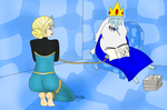 Ice King reading to Elsa 1 by iedasb