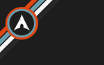 Arch Linux dark Grey with Orange, Blue and White by CraazyT