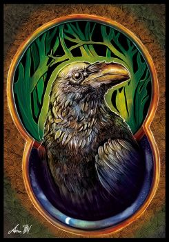 Raven heart by Chalitto