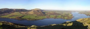 Panorama of Ullswater. by SkankinMike