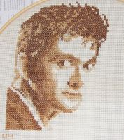 David Tennant Cross Stitch by hobbitsandkilts