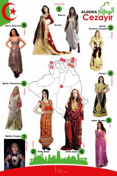Algerian traditional dresses by hicmoul
