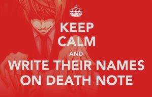 Keep Calm Death Note by midnightyoaihalo