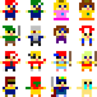 Game Characters 8x8 sprite by Voliol