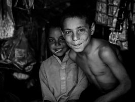 Cheerful Children - I by InayatShah