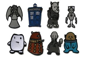 Doctor Who Patches by Blenia
