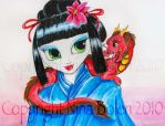 Geisha and Her Dragon by The-GoblinQueen
