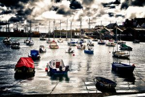 Penzance At High Tide by Spryguyuk