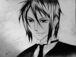 Sebastian Michaelis Drawing #2 by iWishiWereInvincible
