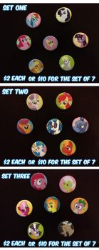 My Little Pony Buttons For Sale! by Mochiroo