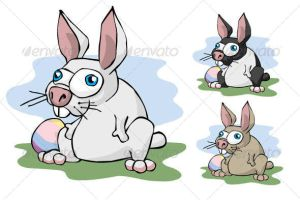 Cartoon Easter Bunny by DXC381