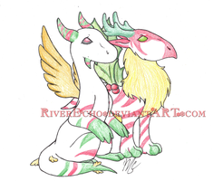 Merry Christmas From The Dragons by RiverEcho