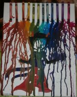 Rainbow drinker crayon art by lunachanart