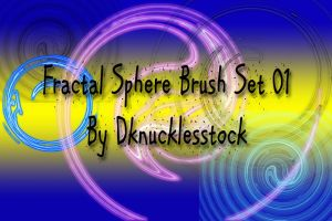 Fractal Sphere Brush Set 01 by dknucklesstock