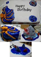 Sea Creature Cake by AbstractAttic