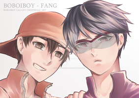 Boy + Fang by RedBloodyRose