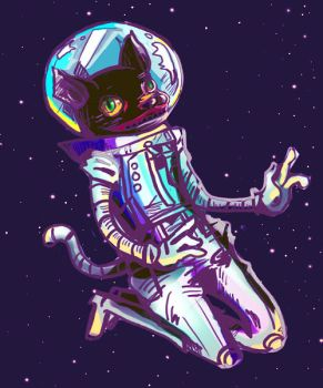 Space Cat by chriztaychuang