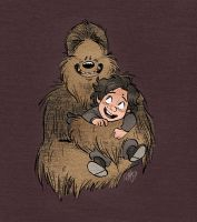 Little Kylo and Chewie by Renny08