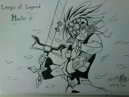 League of legend master Yi pigma draw by Varuna00