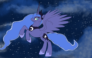 Luna in the sky by alexwolf96