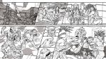 Commission Street Sharks Page 02 - lined version by leandro-sf