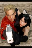 Vash and his Kitty X3 by HaruVamp