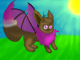 .:Roar dragon eevee 8D:. by Moonlightandlunary