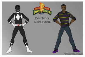 Black Mighty Morphin Power Ranger by Femmes-Fatales