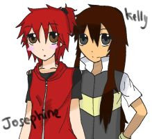 .:Art Trade:. Josephine and Kelly by v-on