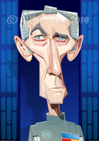 Peter Cushing as Grand Moff Tarkin by RussCook