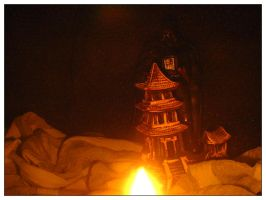 Night Attack on the Castle by famma