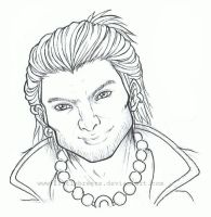 DA2 Varric Tethras Outlines by LittleBreeze