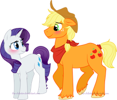 Colt AJ and Rarity by The-Chibster