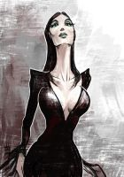 Daily Sketches Morticia Addams by fedde