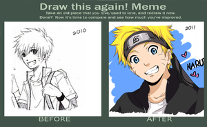 Before and after meme - Uzumaki Naruto (Old meme) by MiyajimaMizy