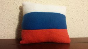 Tiny Russian Flag Pillow by Annelixa
