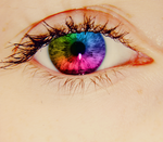 Rainbow Eye by OhhSnappItsMegg