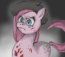 that's not how you paint, pinkamena by Bikkisu