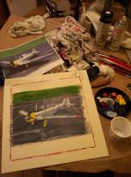 Mosquito T-6 Painting Phase 2 17NOV13 by SudsySutherland