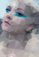 Ice Queen Abstract Triangle Vector Portrait by blueangel06661