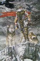 Odin, Wolves and Ravens by Meador