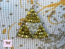 Beaded Triforce Necklace by Lovekeysan